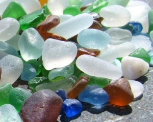 sea glass bunch