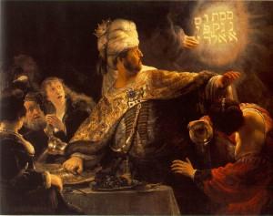 mene mene Rembrandt-Belsazar
